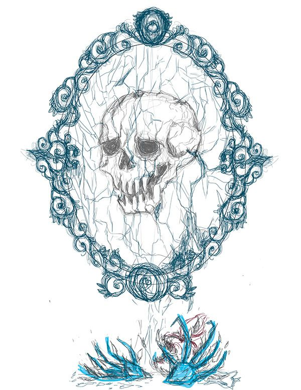 Mirror curse on Behance-sketch
