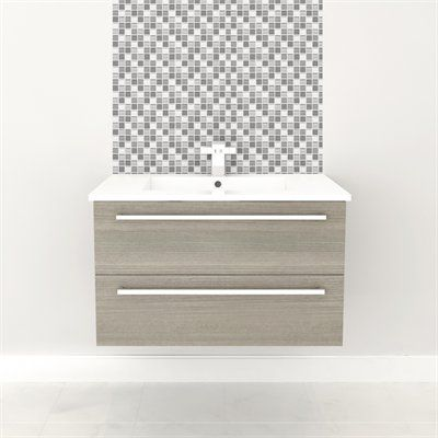 Wall Hung Vanity - ARIA #vanity #drawers #sink #lightcabinets #lightwood #bathrooms #interiordesign #renovations #CutlerKitchenandBath