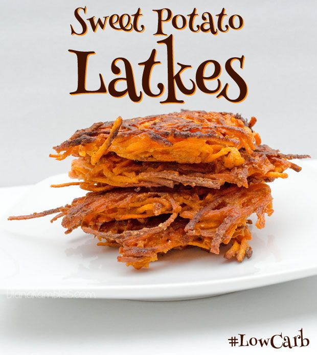 Sweet Potato Latkes Recipe Side Dishes with sweet potatoes, eggs, almond flour, garlic salt, cumin, pepper, oil
