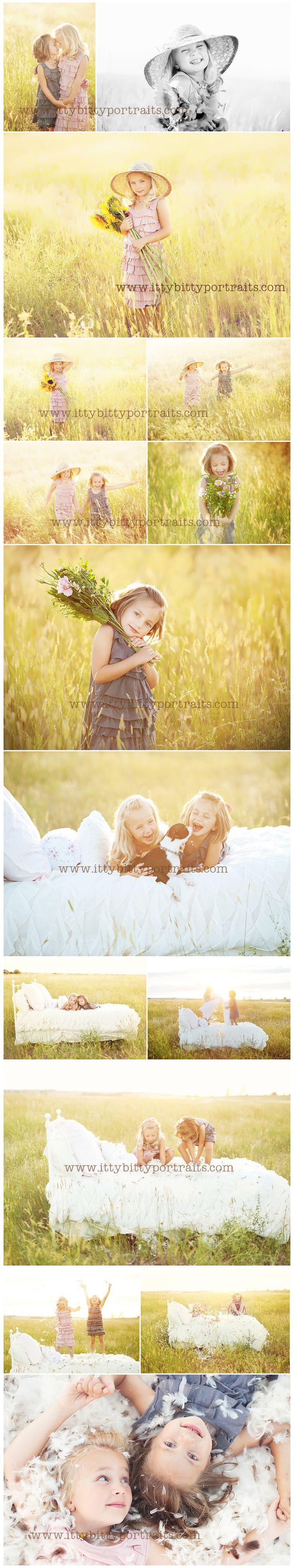 Tus hijos, un entorno bucólico y la luz del atardecer #ideas #fotografia #primavera