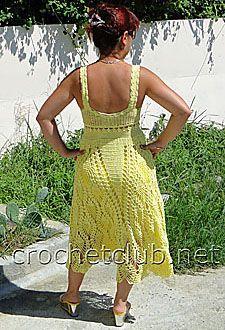 летний желтый сарафан 1