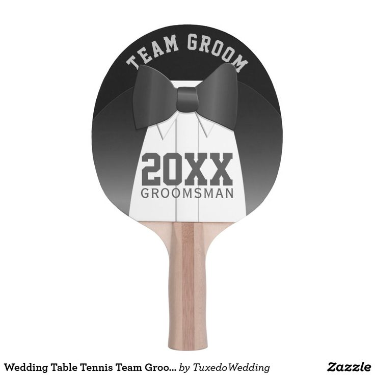 Wedding Table Tennis Team Groom Groomsman Ping Pong Paddle