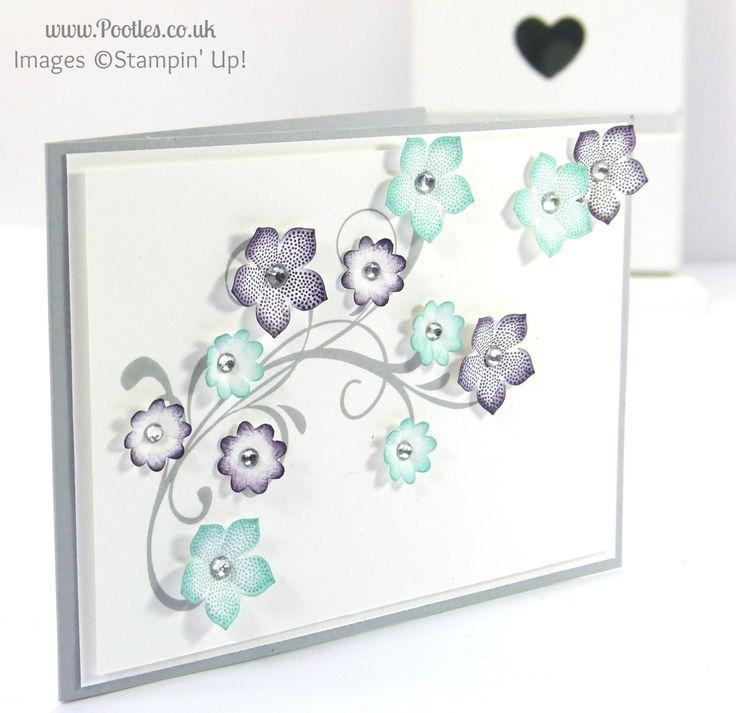 card using SU Everything Eleanor, Boho Blossoms punch, Coastal Cabana and Elegant Eggplant ink - bjl