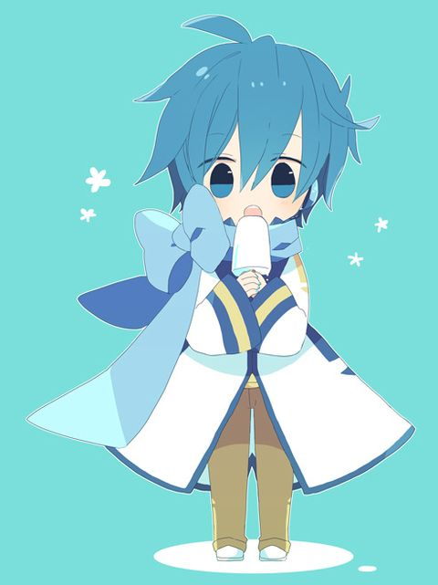 Kaito Shion in a puddle of ice cream