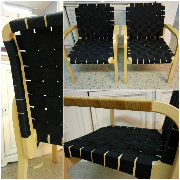 Alvar Aallon 45 nojatuolit uudelleen vyötettyinä. #artek #45 #alvaraalto