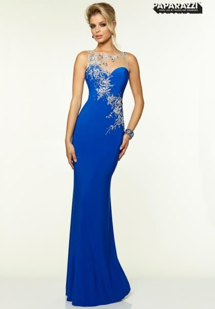 Long sleeve off the shoulder prom dress by mori lee