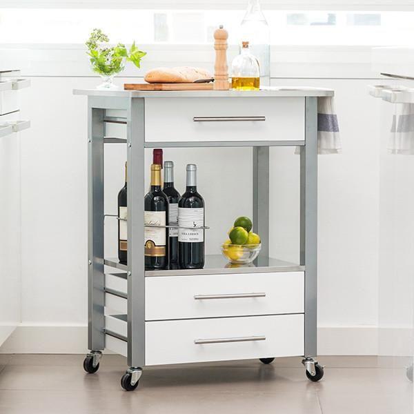 Mer enn 25 bra ideer om Küchenwagen edelstahl u2013 bare på Pinterest - küchenwagen mit schubladen