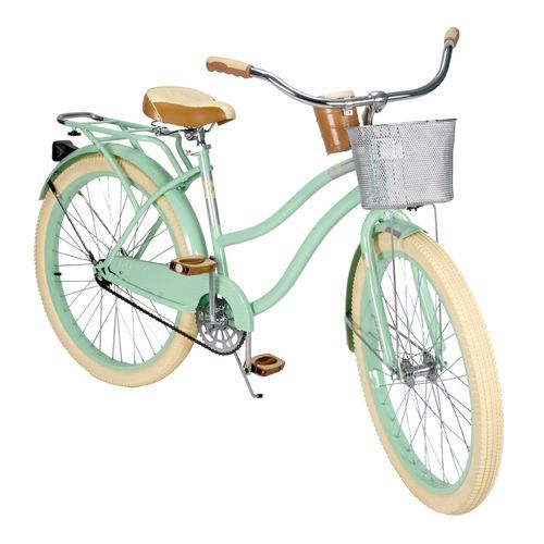 """Huffy Women's Deluxe 26"""" 1-Speed Cruiser Bicycle -- I love that this adult's bike comes with training wheels!"""