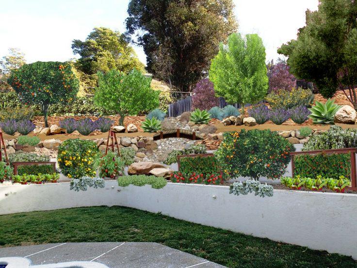 Conceptual Image: Edible Landscape, Hillside Gardening ...