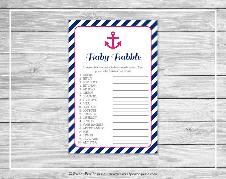 Nautical Baby Shower Baby Babble Game - Printable Baby Shower Baby Babble Game - Nautical Baby Shower - Baby Babble Word Scramble - SP119 #NauticalBabyShower baby shower baby shower games baby shower activity baby shower game shower games shower activities fun shower games games baby shower baby babble game baby shower babble nautical baby shower navy blue shower anchors away shower 3.00 USD SweetPeaPaperieShop