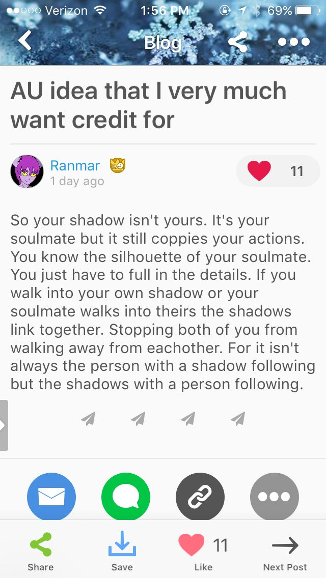 Or if the shadow copies the other person