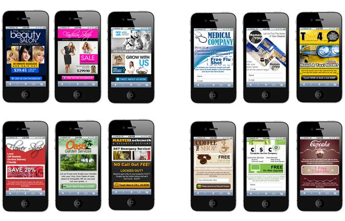 Collection of 12 stunning Mobile Websites for local business catering for different business industries. These mobile sites are customized to your business. Call us + 606 2922643. Creative Mobile Website. Melaka's leading mobile website provider. http://CreativeMobileWebsite.com