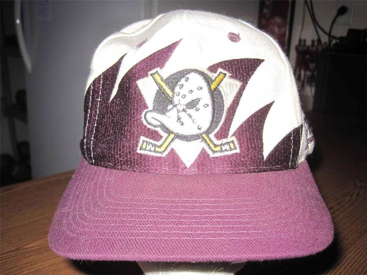 VINTAGE 1990's ANAHEIM MIGHTY DUCKS NHL HOCKEY HAT CAP SNAP BACK LOGO ATHLETIC #LOGOATHLETIC #AnaheimDucks
