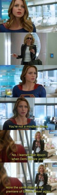 Haha. I love Cat Grant #Supergirl #1x19