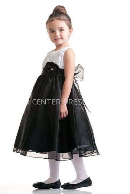 $60.35-LovelyTea-Length Sleeveless Bowed Organza&Taffeta White and Black Flower Girl Dress. http://www.ucenterdress.com/tea-length-sleeveless-bowed-organza&taffeta-flower-girl-dress-pMK_401403.html. Shop for best flower girl dress, baby girl dress, girl party dress, gowns for girls, dresses for girl, children dresses, junior dress, pageant dresses for girls We have great 2016 fall Flower Girl Dresses on sale. Buy Flower Girl Dresses online at UcenterDress.com today! #flowergirldress