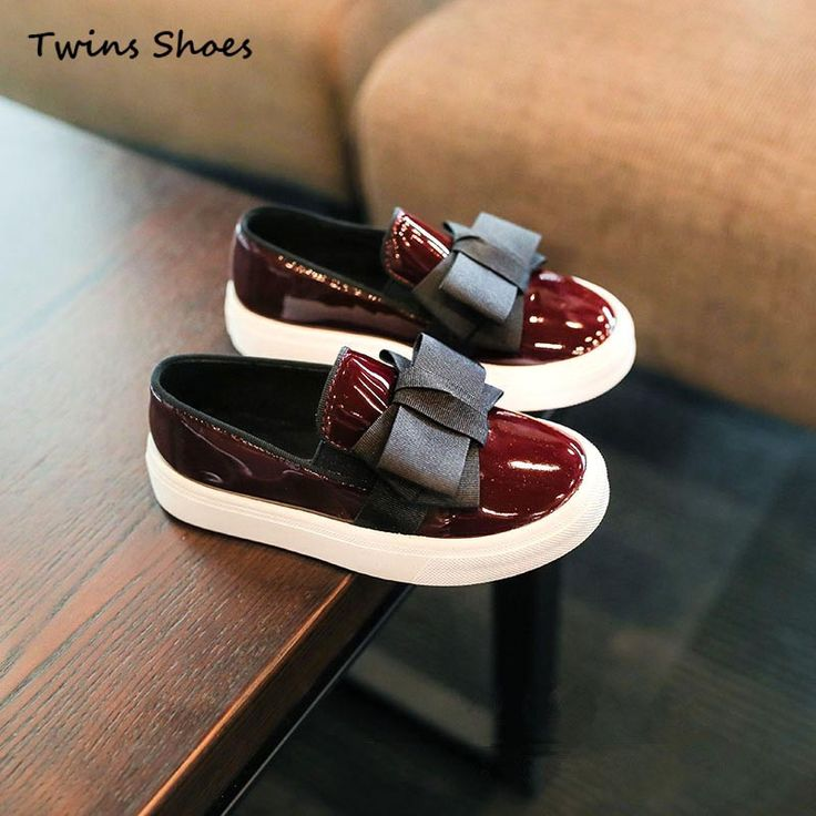 2016 новая коллекция весна дети PU кожаные ботинки черные туфли девочек дети принцесса бабочка bebe обувь малыша бренд квартиры партия обуви