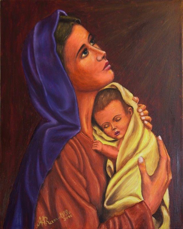 Madonna con Bambino -  Olio su tela 40 x 50 cm anno 2010