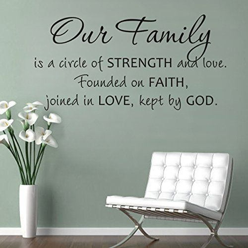 Our family is a circle wall sticker religious bible love quote room vinyl decor