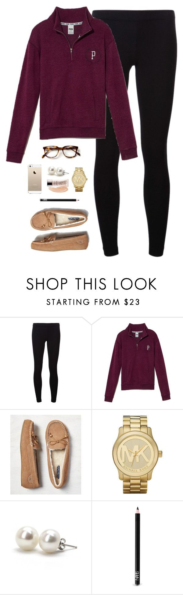 """lazy Saturday"" by classically-preppy ❤ liked on Polyvore featuring James Perse, Victoria's Secret PINK, American Eagle Outfitters, Michael Kors, Bounkit, NARS Cosmetics and Urban Decay"
