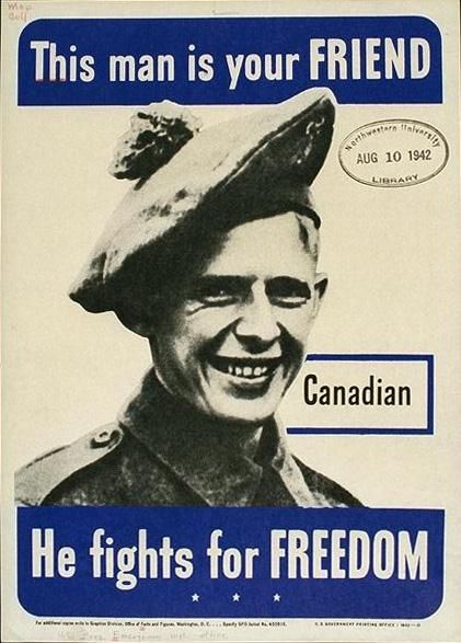 WW 2 poster, part of a series reminding Americans which countries were our Allies