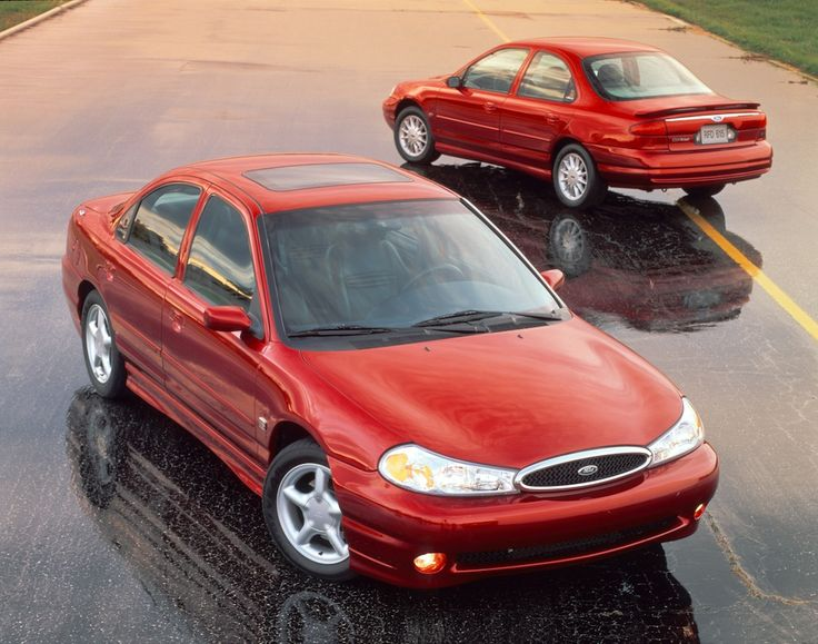 The 1998 Ford Contour SE And SVT Displayed In An Advertisement