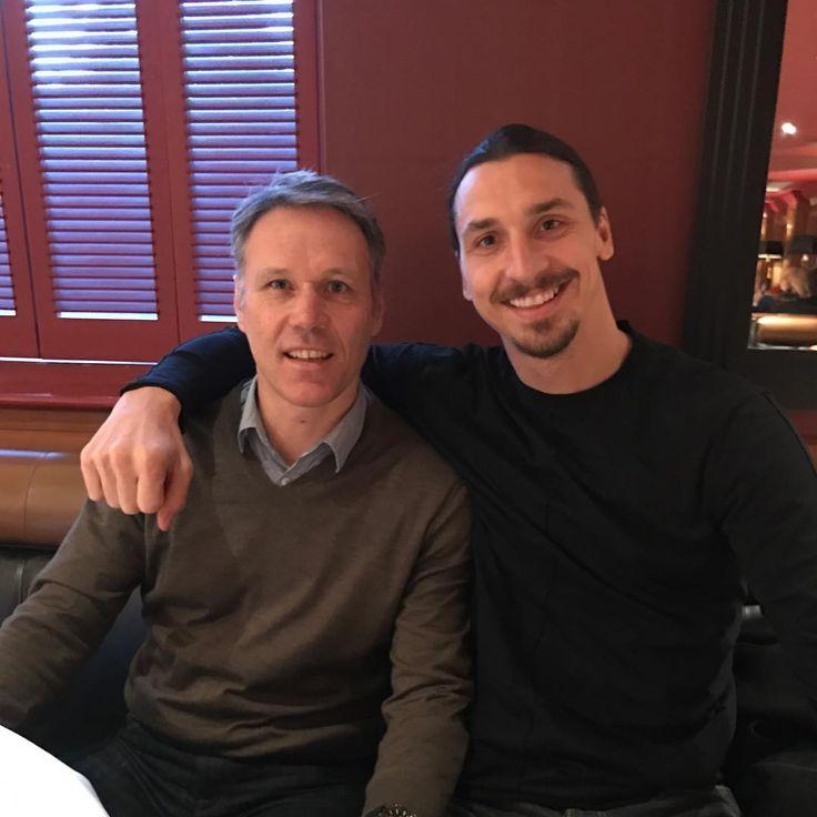 Marco Van Basten and Zlatan Imbrahimovic.