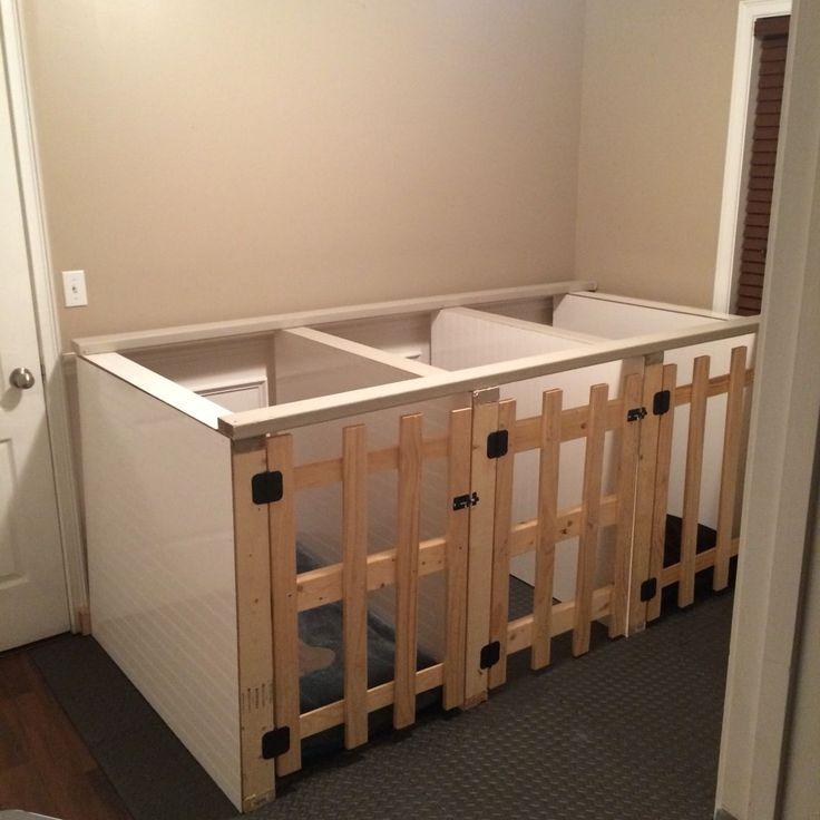 Diy dog indoor kennels pet love pinterest puppies for Design indoor dog crate