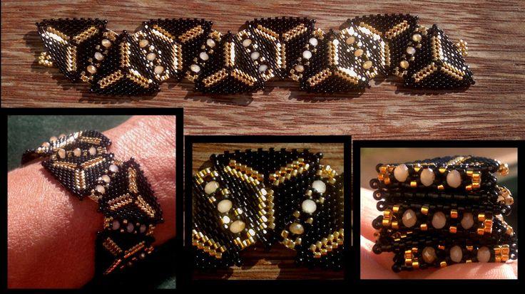 Beading4perfectionists : 1920's Art Deco Triangle beaded bracelet beadin...