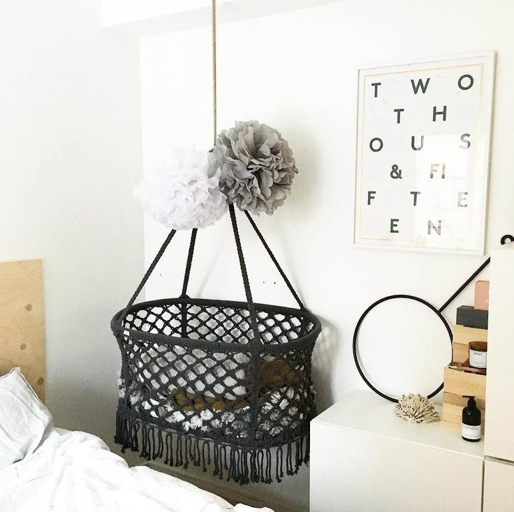 This hanging cradle is the sweetest.