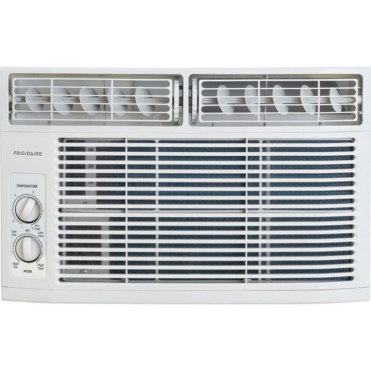Frigidaire 8,000 BTU 115-Volt Window-Mounted Mini-Compact Air Conditioner with Mechanical Controls, White