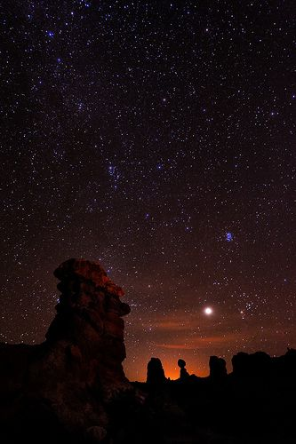 Easter Island Man & Venus - Arches National Park