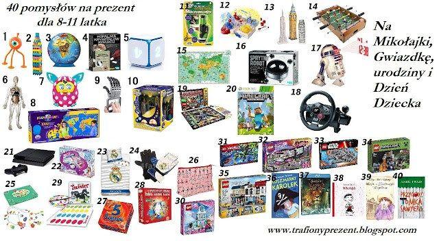 40 pomysłów na prezent dla 8-11 latka - Trafiony prezent