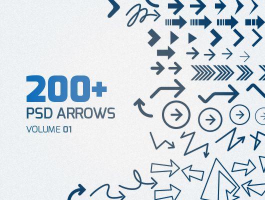 200+ Free Arrows - Freebies - Fribly