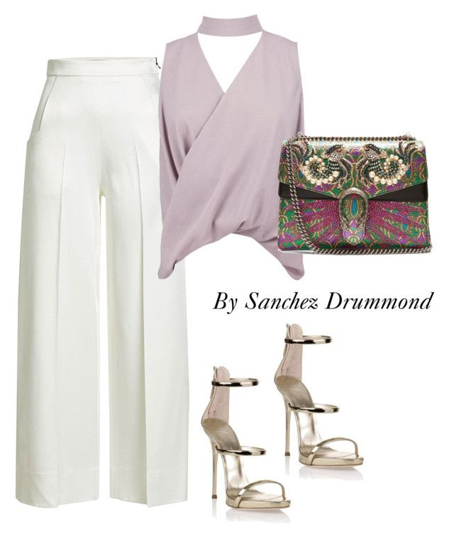 Untitled #617 by sanchez-drummond on Polyvore featuring polyvore fashion style Boohoo Roland Mouret Giuseppe Zanotti Gucci clothing