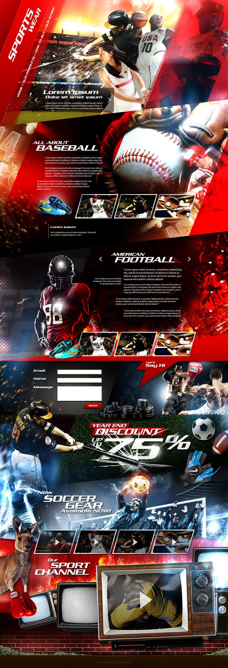 Sports Wear website