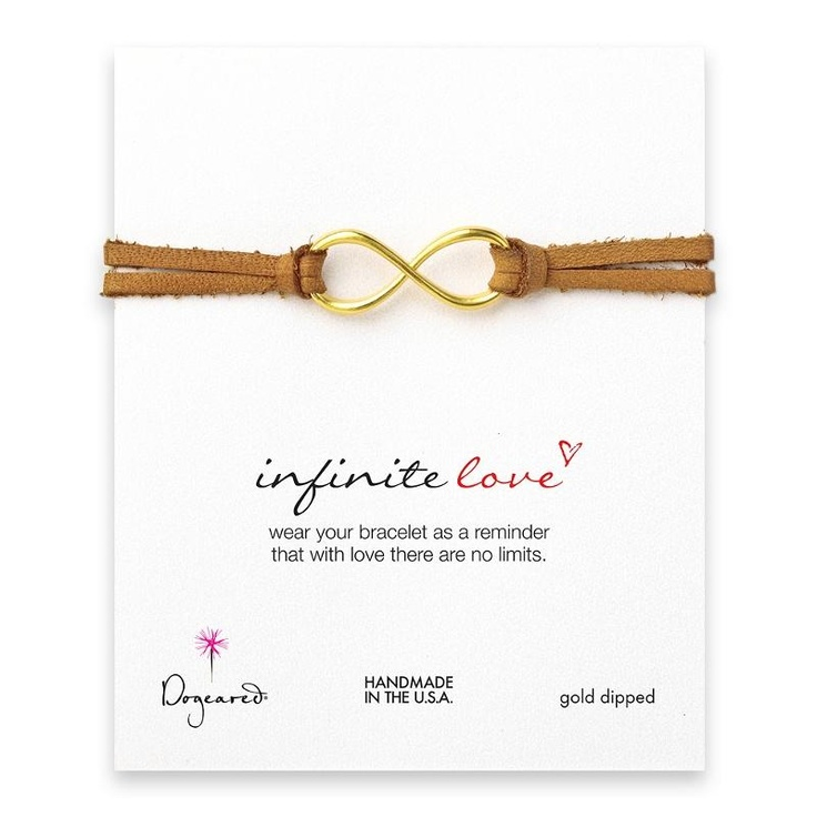 Dogeared Leather Infinite Love Bracelet