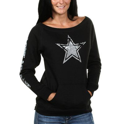 Dallas Cowboys Women S Stardust Fleece Sweatshirt Black
