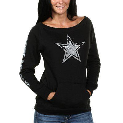 Dallas Cowboys Women's Stardust Fleece Sweatshirt - Black LOVE IT!!