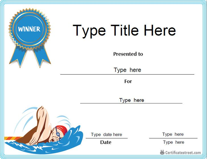 Certificate Street Free Award Certificate Templates No Intended For Swimming Award Certif Certificate Templates Awards Certificates Template Swimming Awards