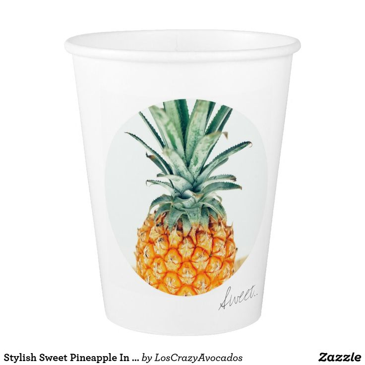 Stylish Sweet Pineapple In A Circle Paper Cup