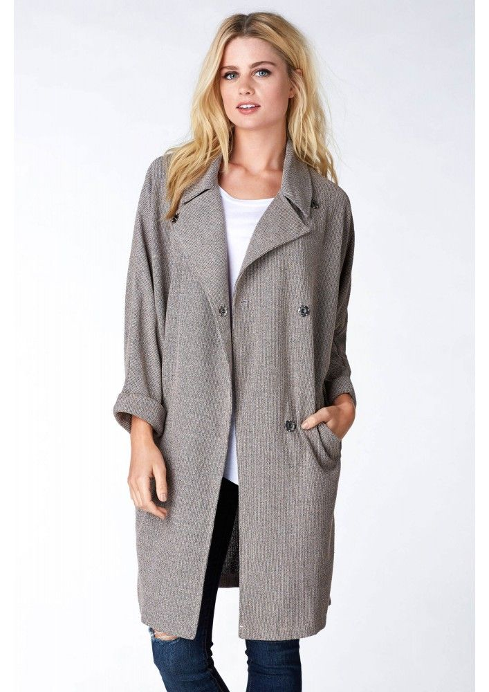 City Girl Ribbed Jacket in Taupe | Necessary Clothing | Clothes | Pinterest | Taupe Chic ...
