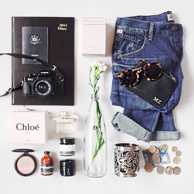 Recreate something like this - books, clothes, accessories, makeup, assorted items.
