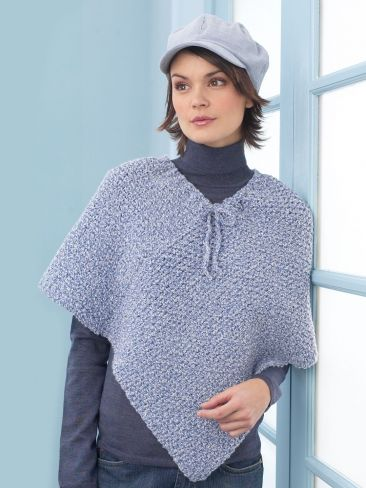 Ladies Poncho | Yarn | Free Knitting Patterns | Crochet Patterns | Yarnspirations