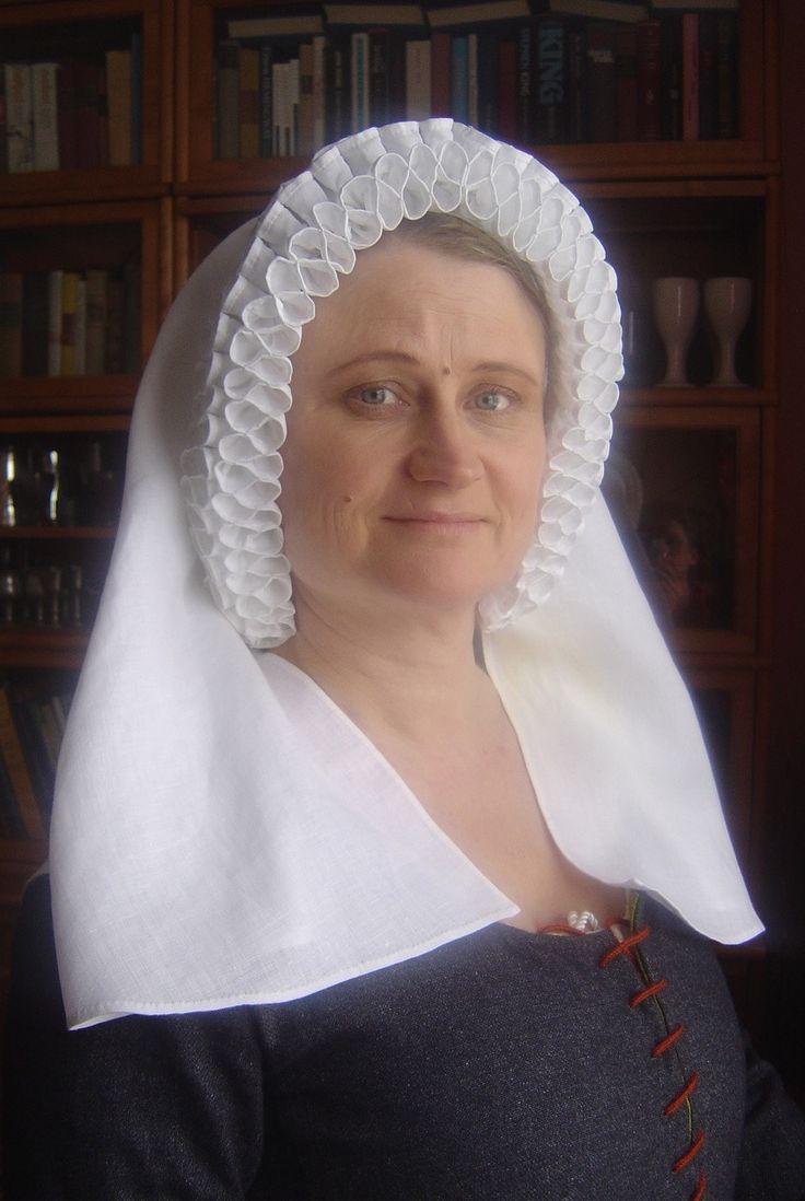 Medieval Frilled veil