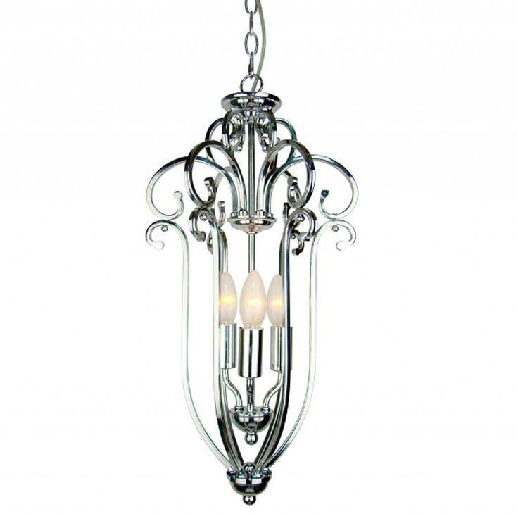 zilverkleurige moderne kroonluchters / aparte Hanglamp van nikkel/staal 29x55cm