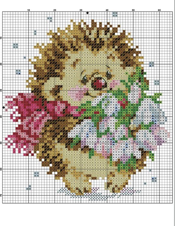 Little Spin [Cross Stitch - Christmas - Kids - Animals] [Pattern / Chart]
