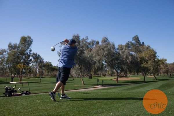 #MiamiDolphins guard Richie Incognito drives down the course for par.