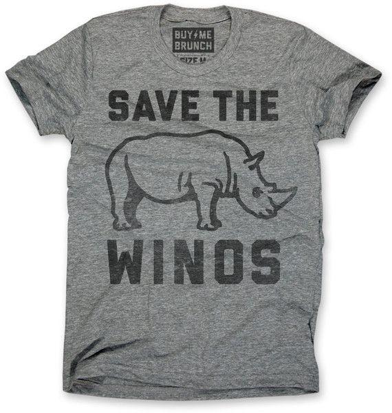 Save the Winos Tee Grey – Buy Me Brunch