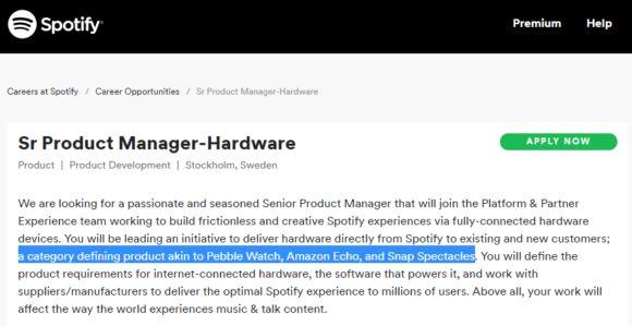 spotify-hardware-580x299 Spotify estaría preparando su propio hardware