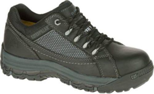 Womens Cat Footwear Black Champ Steel Toe Work Shoes P90669